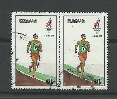 KENYA 1996  Olympic Games  40/- Top Value  fine used pair