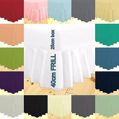 100% percale frilled valance sheet extra deep single double king super king size