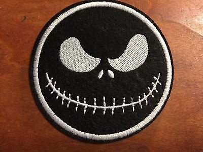 "MISTER JACK The Nightmare Before CHRISTMAS - Embroidered Iron On Patch 3 ""-BLACK"