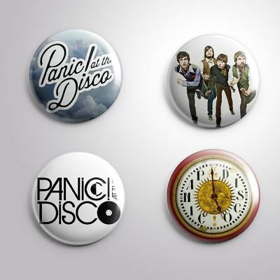 """4 PANIC AT THE DISCO - Pinbacks Badges Buttons 1"""" 25mm"""