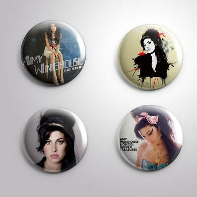 4 AMY WINEHOUSE -  Pinbacks Badge Button 25mm 1''
