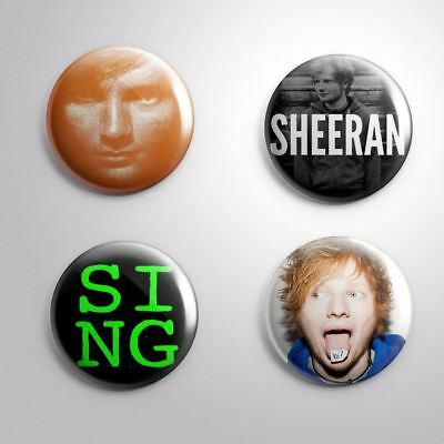 4 ED SHEERAN -  Pinbacks Badge Button 25mm 1''