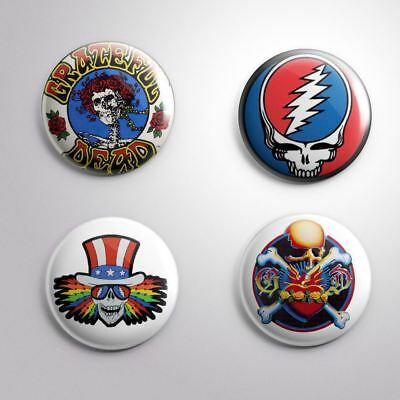4 GRATEFUL DEAD - Pinbacks Badge Button 25mm 1''