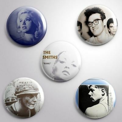5 SMITHS -  Pinbacks Badge Button 25mm 1''..