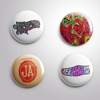 4 JEFFERSON AIRPLANE - Pinbacks Badge Button 25mm 1''
