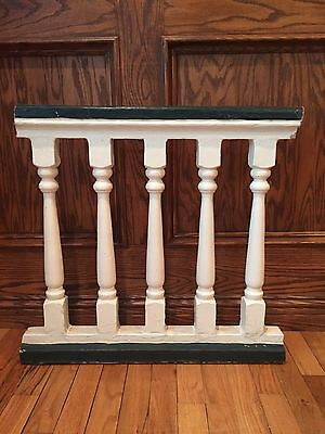 "Antique Greek Revival Wood Porch Railing - 1800's Architectural Salvage 23.5""W"