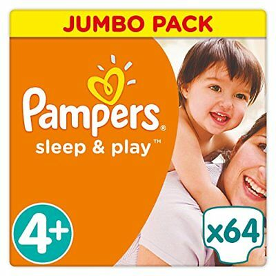 Pampers Sleep & Play strato 64 Pezzi Dimensioni 4 + Maxi + (N1q)
