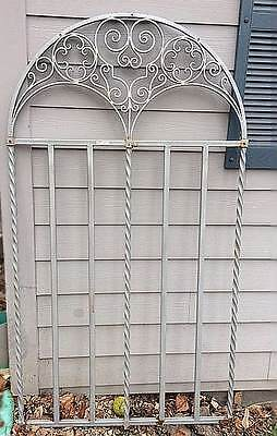 Architectural spectacular WROUGHT IRON one inch iron arched panel   78 x 42 in