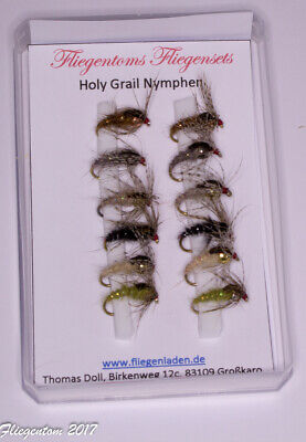 Assortment of 12 Holy Grail Nymphs