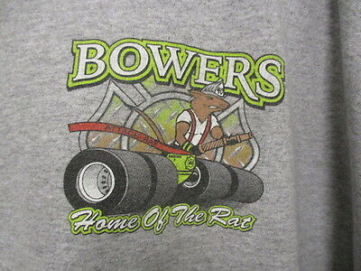 Bowers Fire Company #40, Home of the Attack RAT, Ash Gray, S/S, XXXLarge, NEW