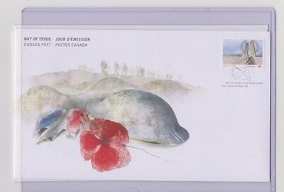 1x Canada Day Of issue First Day Cover Vimy Ridge 1917 -2017 Permanent Stamp