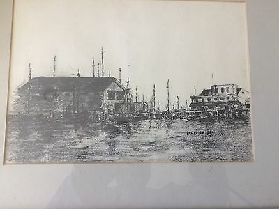 vintage pencil drawing of Provincetown ma