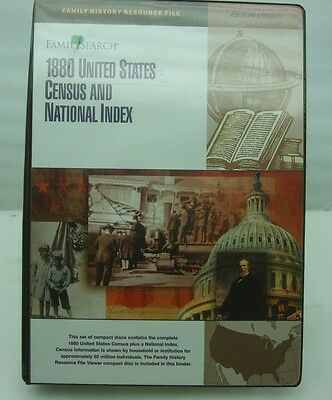 Genealogy Family Search 1880 US Census National Index 56 CD ROM Binder Ancestry