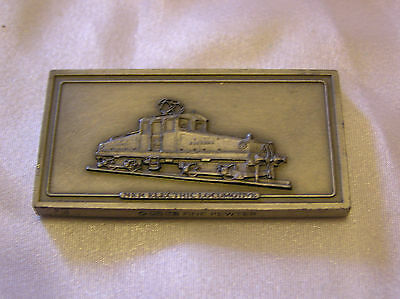 SOLID PEWTER INGOT of the NER ELECTRIC LOCOMOTIVE