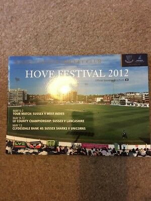 Sussex CCC Hove Festival Programme May 2012