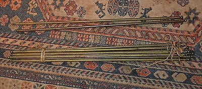 "Vintage set of 27"" stair rods x10"