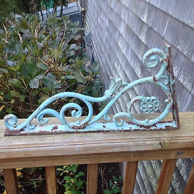 Antique Art Nouveau Painted Victorian Cast Iron Bracket Corbel 80 Degree Angle