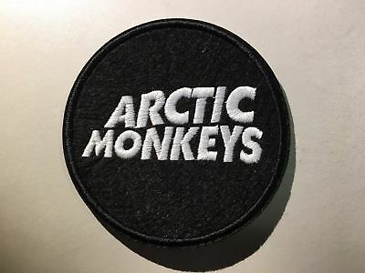 """ARCTIC MONKEYS Logo Patch - Embroidered Iron On Patch 3 """""""