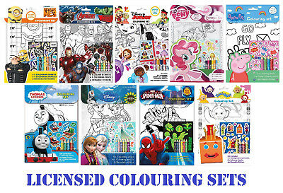Childrens Colouring Set Sticker Drawing Pencil Kids Party Loot Bag Filler Favour