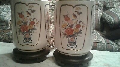 PAIR OF ANTIQUE bronze CHINESE FAMILLE ROSE VASE LAMPS