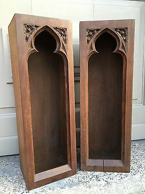 SALE! Nice  French Neo Gothic Chapel / Display cabinet in wood circa 1900