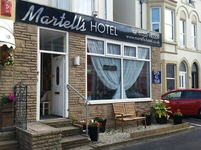 Christmas at Blackpool bed and breakfast Martell's Hotel