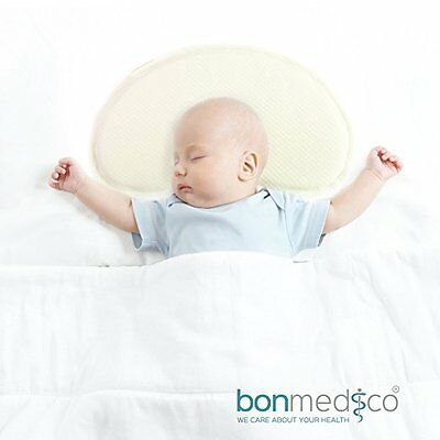 Bonmedico Guardian Baby Pillow, Anti-Flat Head Syndrome Cranial Reshaping / Head