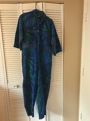 Vintage 1980's Global Kiwis Jumpsuit Size M (Blue And Green)