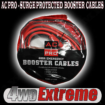 Ac Pro Surge Protected Protector 400Amp Cables Jump Jumper Leads Start Bc400E