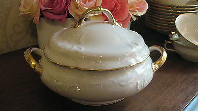 Rosenthal Classic Sanssouci Ivory/Gold Vegetable Tureen Hand Embellished