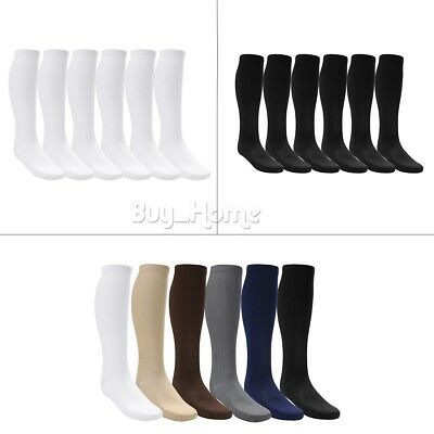 6 Pairs Compression Knee High Socks Leg Stockings Graduated Support Mens Women's