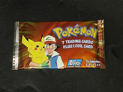 Pokemon Topps Booster Booster Pack (Series 1) TV Animation Edition 7 Cards