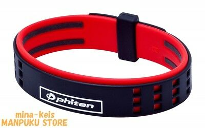 Phiten RAKUWA Bracelet S DUO Type Titanium 15cm Black Red F/S with tracking