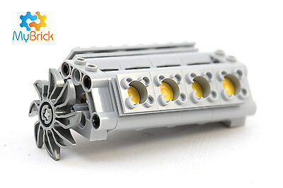 LEGO Technic - V8 cylinder engine with crank, pistons, fan - Posted Flat