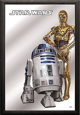 Star Wars C - 3PO & R2 - D2 Nostalgia Bar Mirror 8 11/16x12 5/8in
