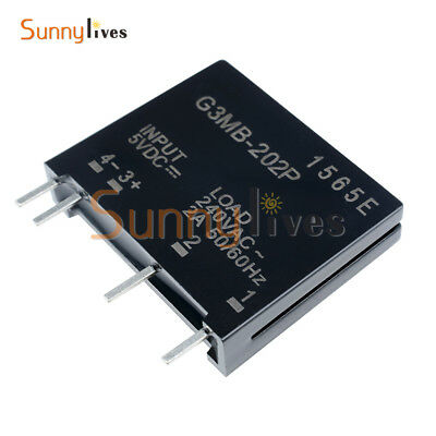 G3MB-202P-5VDC DC-AC PCB SSR In 5V DC Out 240V AC 2A Solid State Relay Module