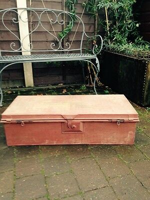 Vintage Antique Military Steamer Trunk Chest Storage Seagrove