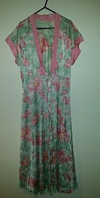 Vintage ladies summer dressing gown size 14