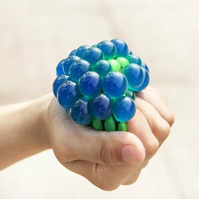 1PCS Anti Stress Face Reliever Grape Ball Autism Mood Squeeze Relief ADHD Toy