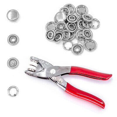 100 Sets 12mm Jersey Cap Studs Snap Poppers Prong Fasteners Ring Baby Dummy Clip