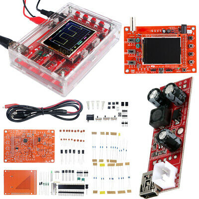"New Assembled DSO138 2.4"" TFT Digital Oscilloscope Kit DIY Module + Probe Case"