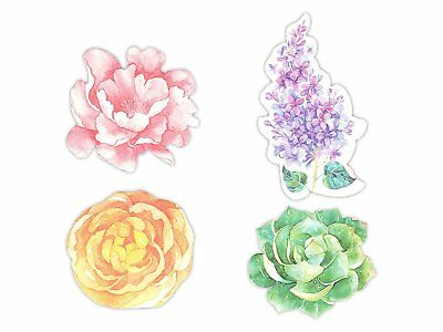Flower Shaped Self-Stick Notes, Scratch Pads Match for Stationery, 4 Pads/Pack,