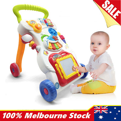 4in1 Baby Push Walker Toddler Play Toy Musical Activity Steps Learning Assistant