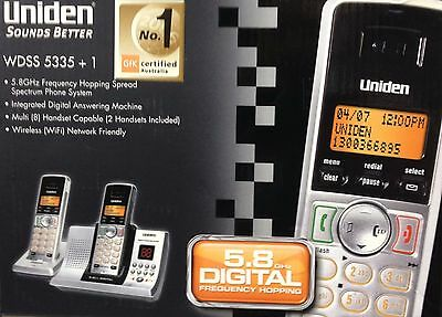 NEW UNIDEN WDSS 5335+1 CORDLESS PHONE 5.8GHz