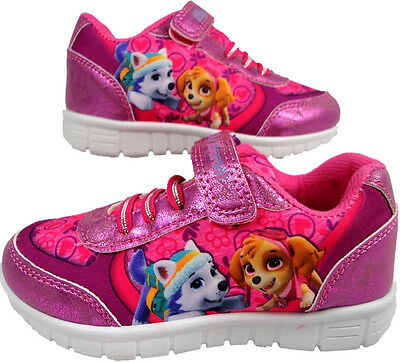 Girls official Paw Patrol pup skye and everest sports Trainer  Glitter skate