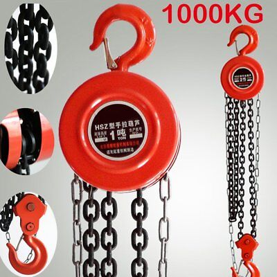 Heavy Duty 1 Ton Chain Workshop Lifting Block & Tackle Hoist Car Load Best Ukcy