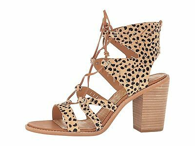 f0f29a6149f5 DOLCE VITA LUCI Leopard Women s Ghillie Lace Up Stacked Heel Sandals ...