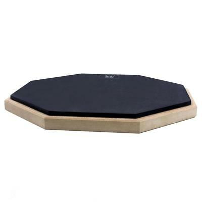 Rubber Wooden Dumb Drum Double Sided Pad Silent Practice Drummers Gift Black