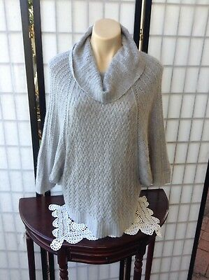 *Forever New* Grey Batwing Jumper Size M