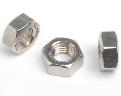 HEX NUTS Full Nuts Aluminium/A4 Marine/A2 Stainless/BZP/Nylon/Self Colour Nuts
